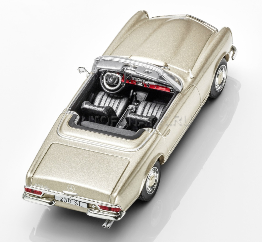 Модель Mercedes 230 SL, Pagoda, W 113, 1963-1967, Beige, Scale 1:43
