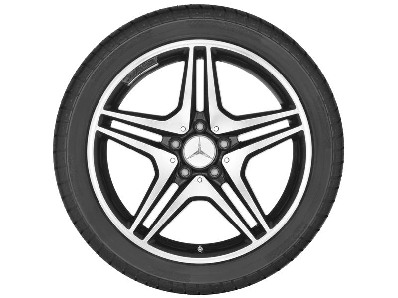 """5-спицевый диск AMG со сдвоен. спицами, 45,7 см (18"""") 7,5 J x 18 ET 52, черный"""