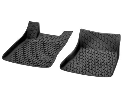 Коврики салона полиуритановые черные для Mercedes Коврик водителя / переднего пассажира, из 2-х частей