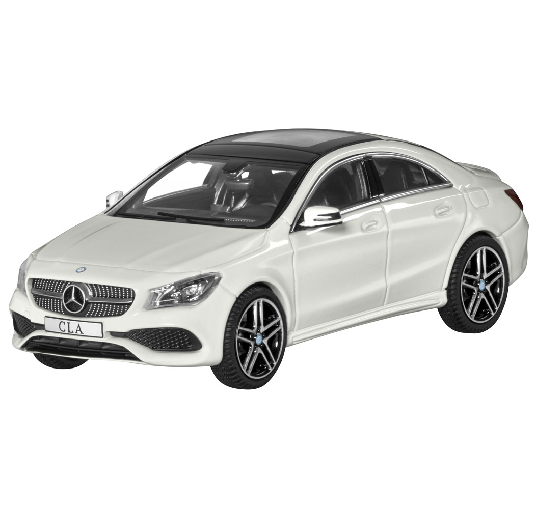 Модель Mercedes-Benz CLA, Coupe, White, Scale 1:43