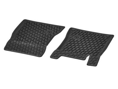 Коврики салона резиновые черные для Mercedes Коврик водителя / переднего пассажира, из 2-х частей