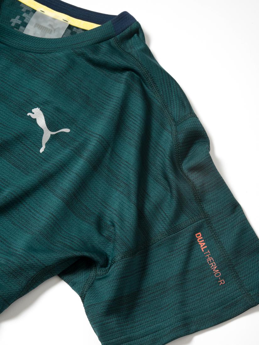 Мужская футболка PUMA для Mercedes-Benz, зеленая