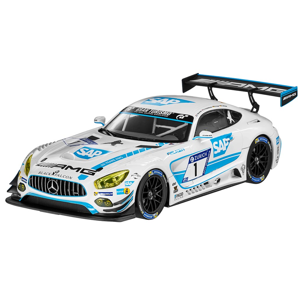 Модель Mercedes-AMG GT3, команда Black Falcon, 1:18