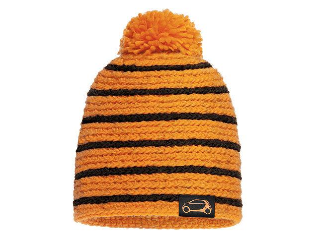 Вязаная шапочка, Passion черный / Оранжевый