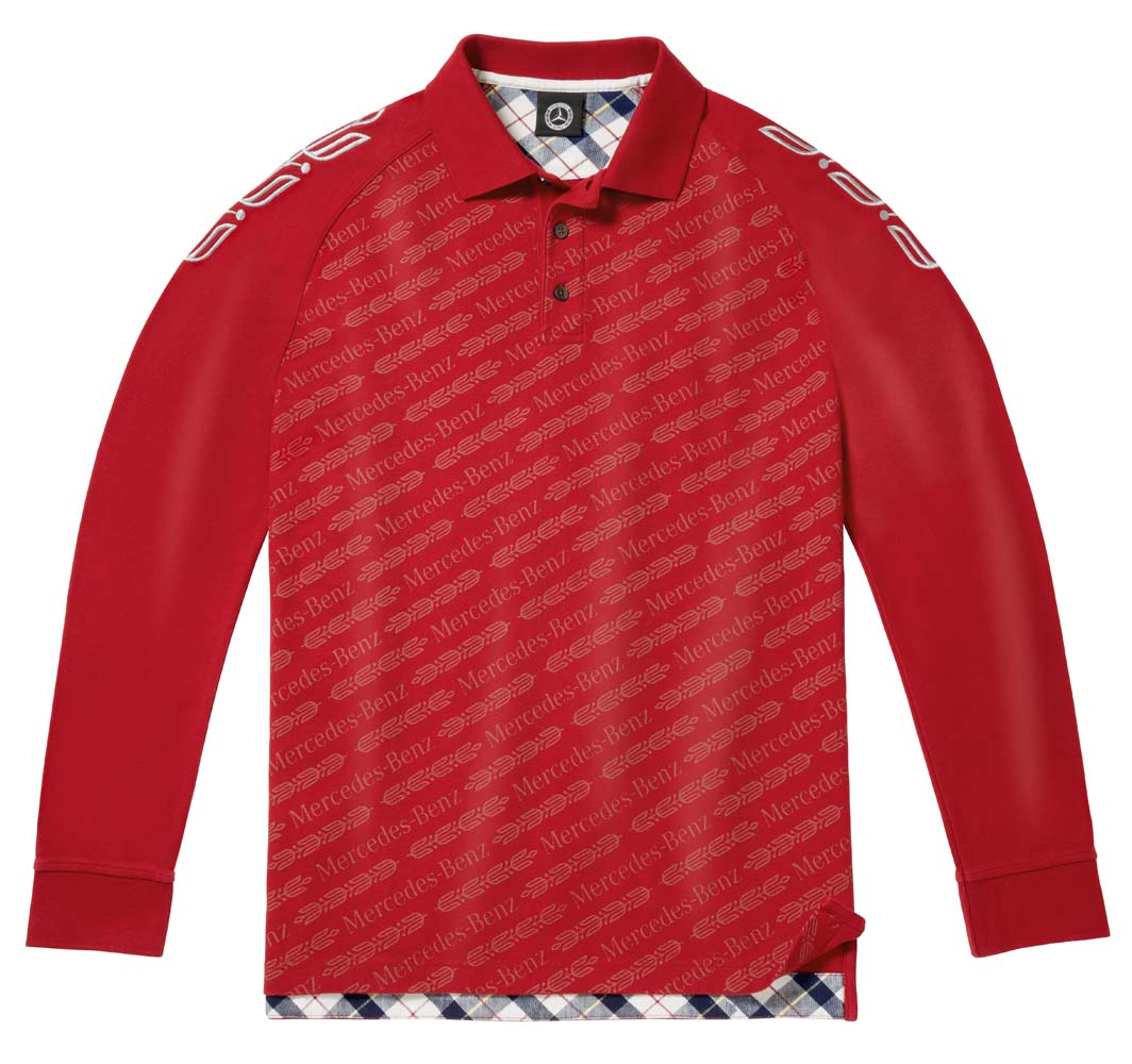 Рубашка поло мужская, красная
