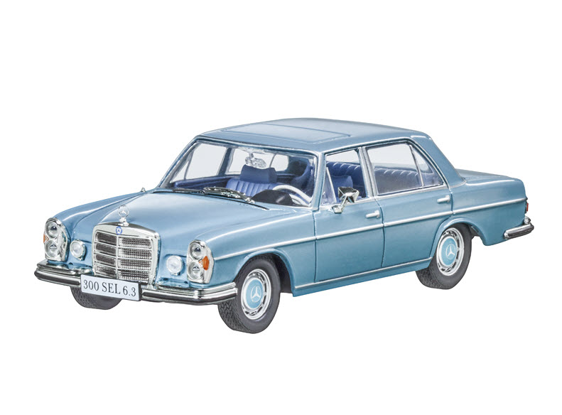 Модель Mercedes 300 SEL 6.3, W 109, 1968-1972, Blue, Scale 1:43