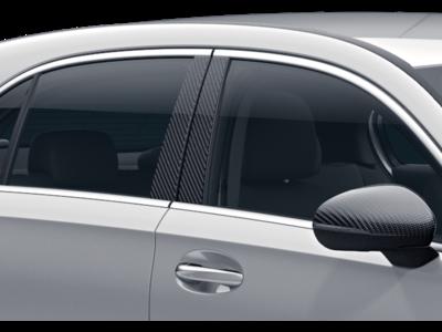 Покрытие средних стоек кузова для Mercedes A class W177Карбоновый стайлинг