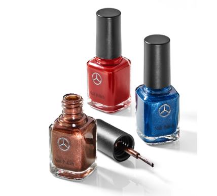 Набор лаков для ногтей Mercedes-Benz Nail Varnish, Set of 3, denim blue / jupiter red / orient brown
