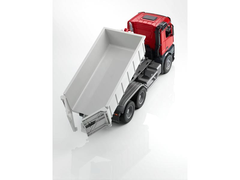 Модель Arocs, 6x4, со съемным контейнером и фигурой красный / серый, Bruder, Масштаб: 1:16