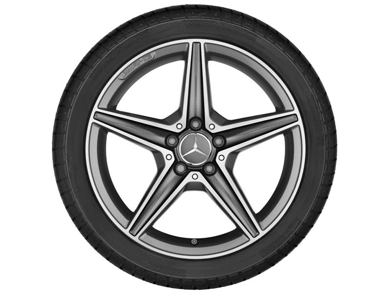 "5-спицевый диск AMG, 45,7 см (18"")8,5 J x 18 ET 49, ""Серый титан"""