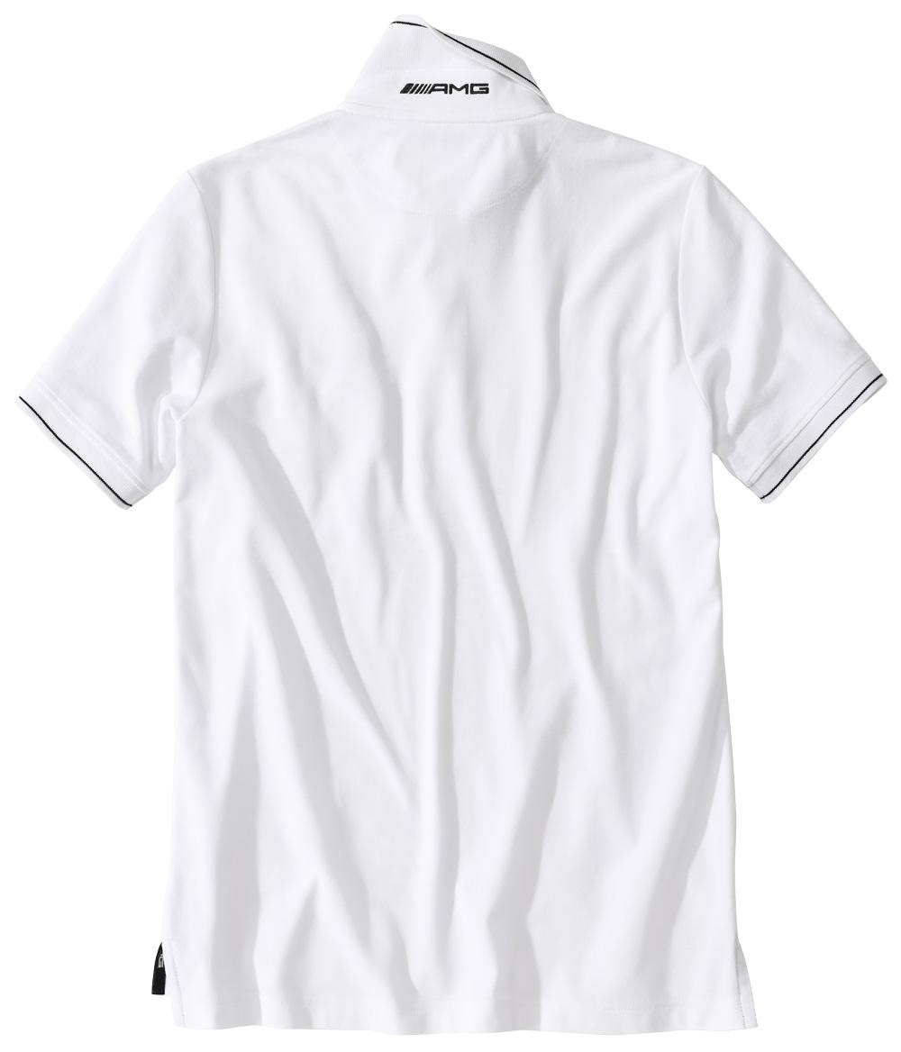 Футболка поло мужская AMG, белая