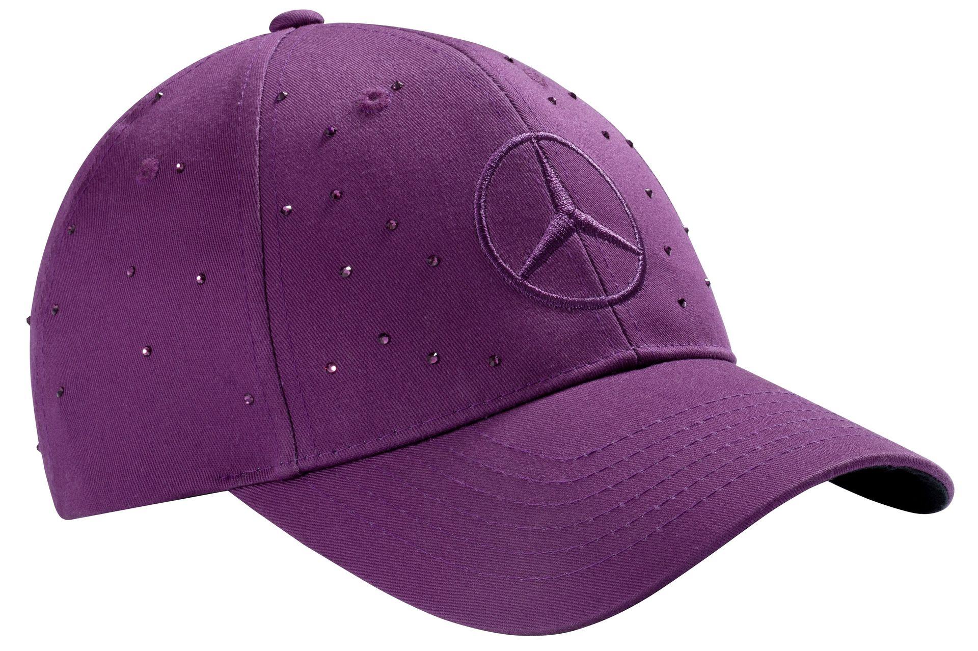 Женская бейсболка Mercedes Women's Сap, 100% cotton, Plum