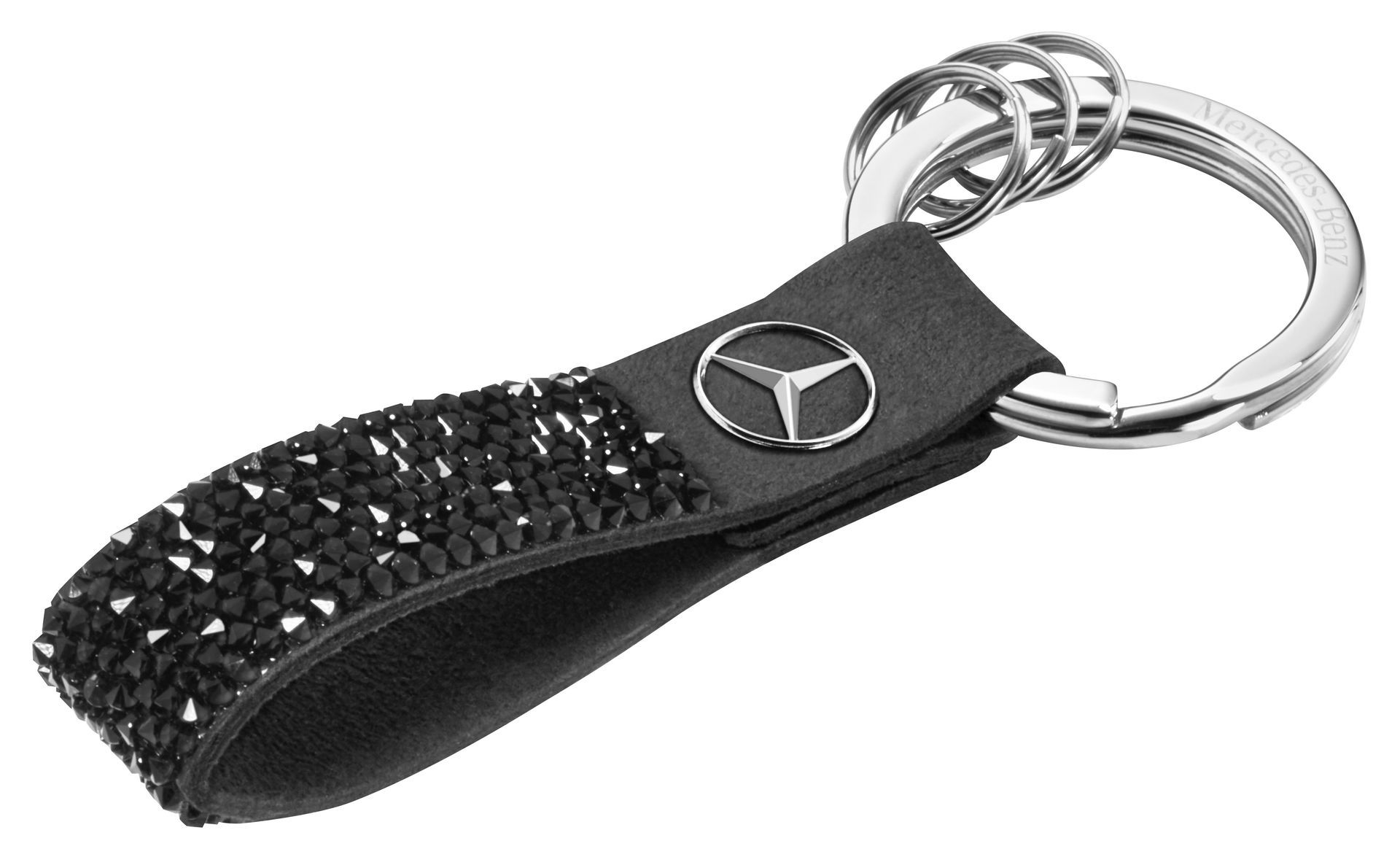 Брелок Mercedes-Benz Key Ring, Milano, Black, Swarovski