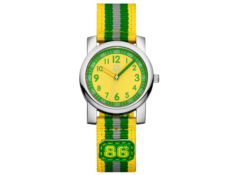 Детские часы Mercedes, Зеленый/ Желтый