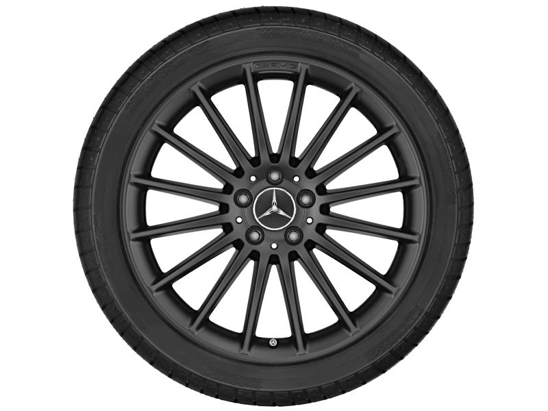 """Многоспицевый колесный диск AMG, 48,3 см (19"""") 8 J x 19 ET 48, Черный матовый"""