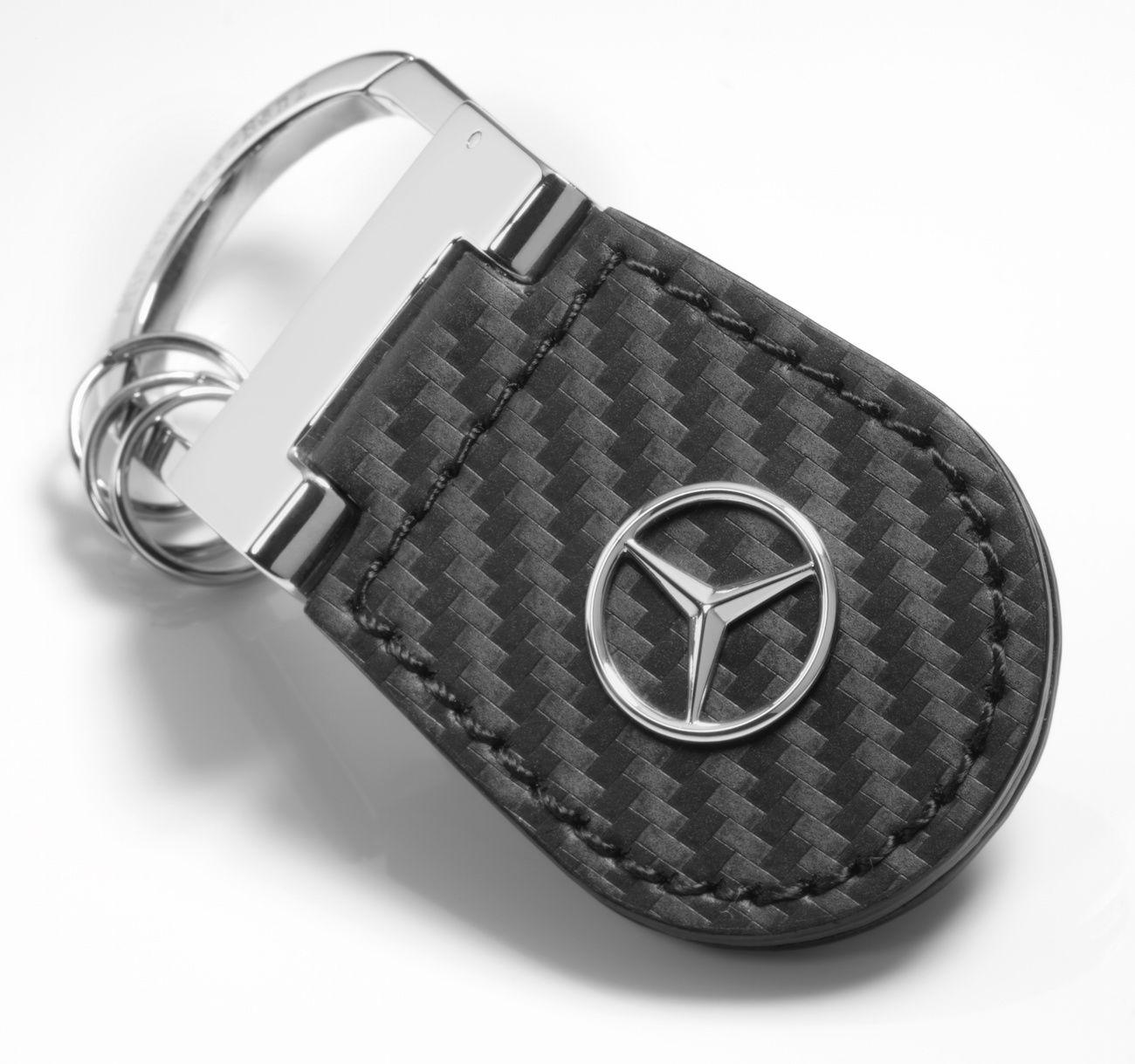 Брелок Mercedes-Benz Key Ring Shanghai, Carbon Leather, Black