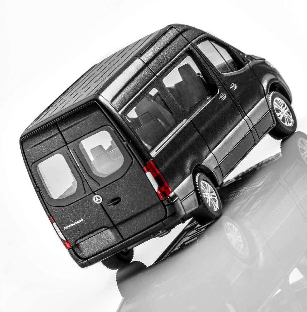 Модель автомобиля Sprinter микроавтобус, 1:87, черный
