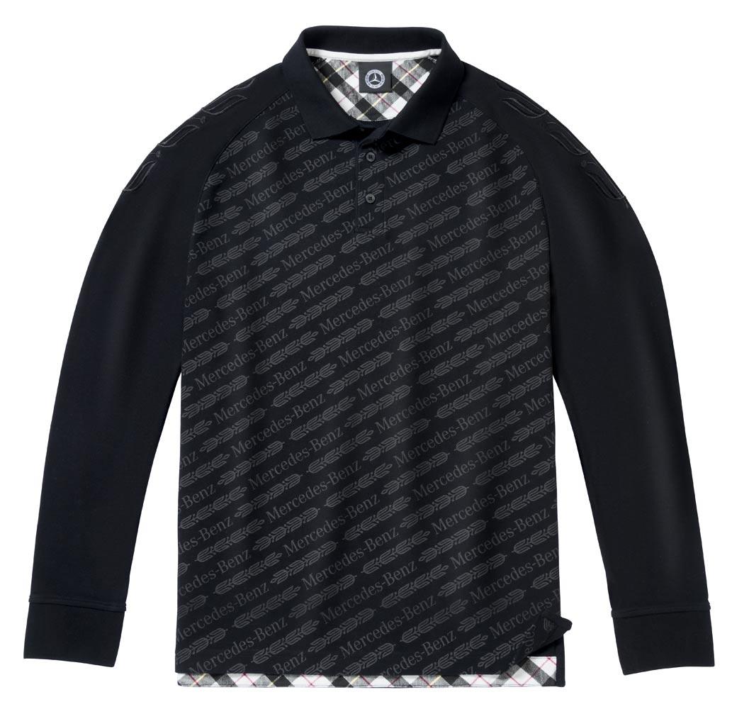 Рубашка поло мужская, черная