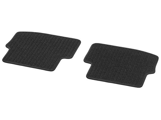 Рипсовые коврики CLASSIC, Задняя часть салона, из 2-х частей, черные