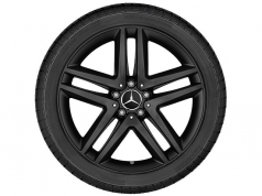 5 double spoke matte black 19""