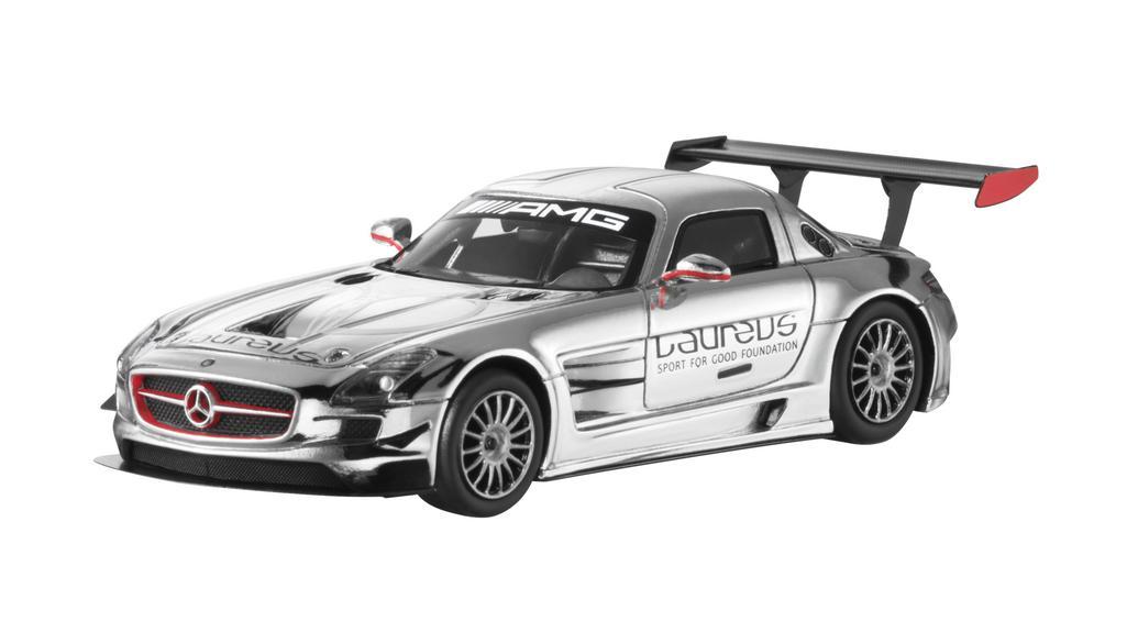 Модель SLS AMG GT3 Laureus хром, 1:43