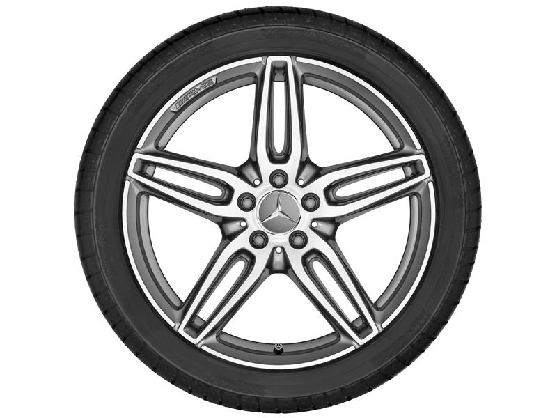 "5-спицевый диск AMG со сдвоен. спицами, 45,7 см (18"") 7,5 J x 18 ET 52, ""Серый титан"""