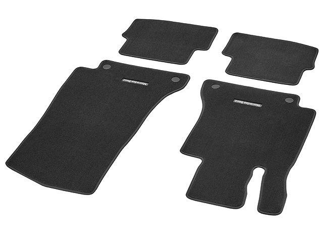 Велюровые коврики CLASSIC, Комплект, из 4-х частей, черные