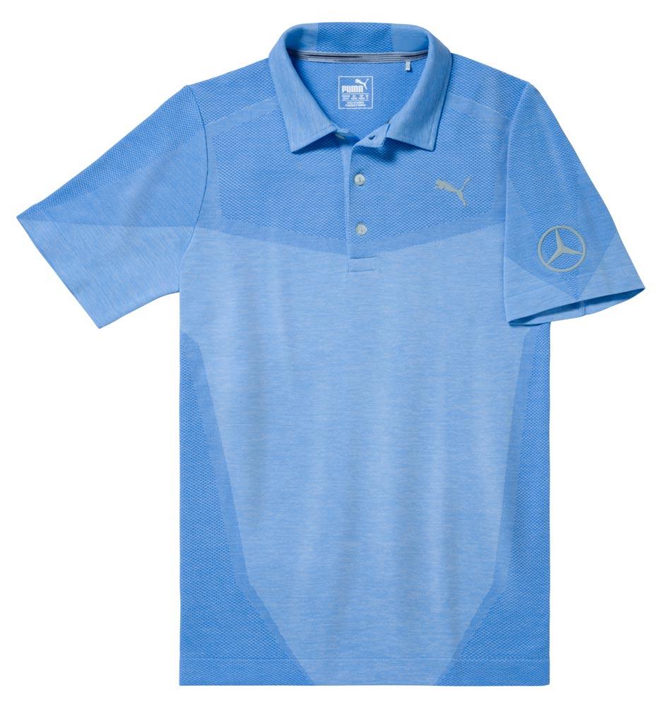 Мужская футболка поло, голубая