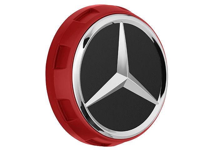 Колпачки на ступицы колес AMG, в стиле центральной гайки красный
