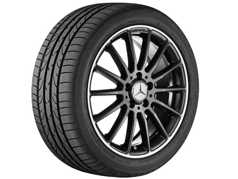 """Многоспицевый колесный диск AMG, 45,7 см (18""""),Полированный обод 7,5 J x 18 ET 52, черный"""