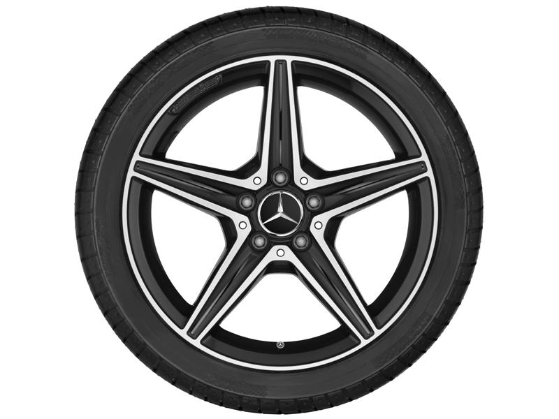 """5-спицевый диск AMG, 45,7 см (18"""") 7,5 J x 18 ET 44, черный"""