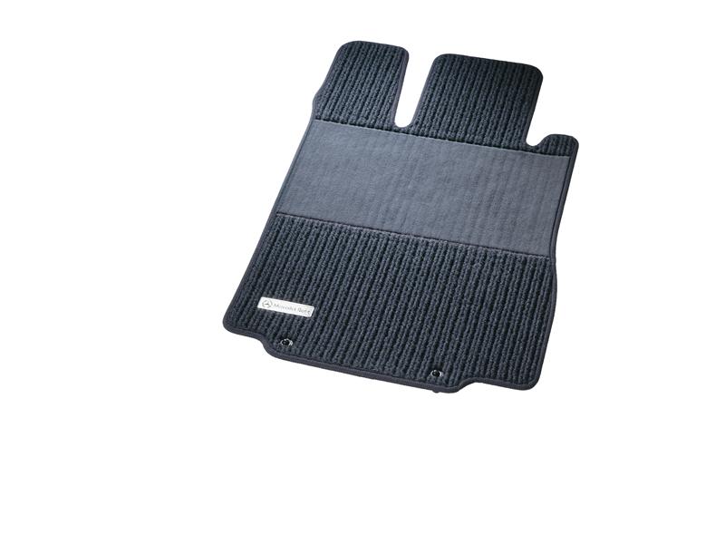 Рипсовые коврики CLASSIC, Комплект, из 4-х частей, черный