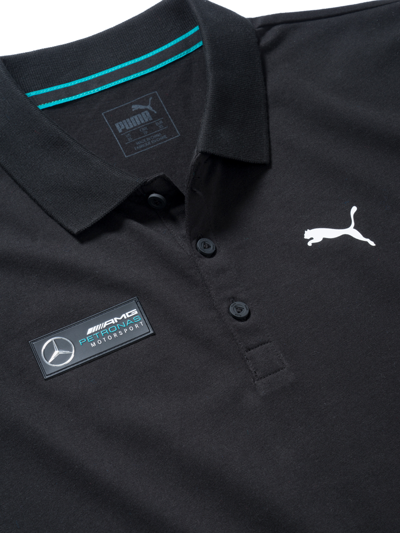 Мужская футболка поло, черная