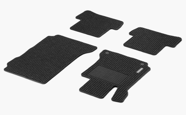 Рипсовые коврики CLASSIC, комплект из 4-х частей, черный