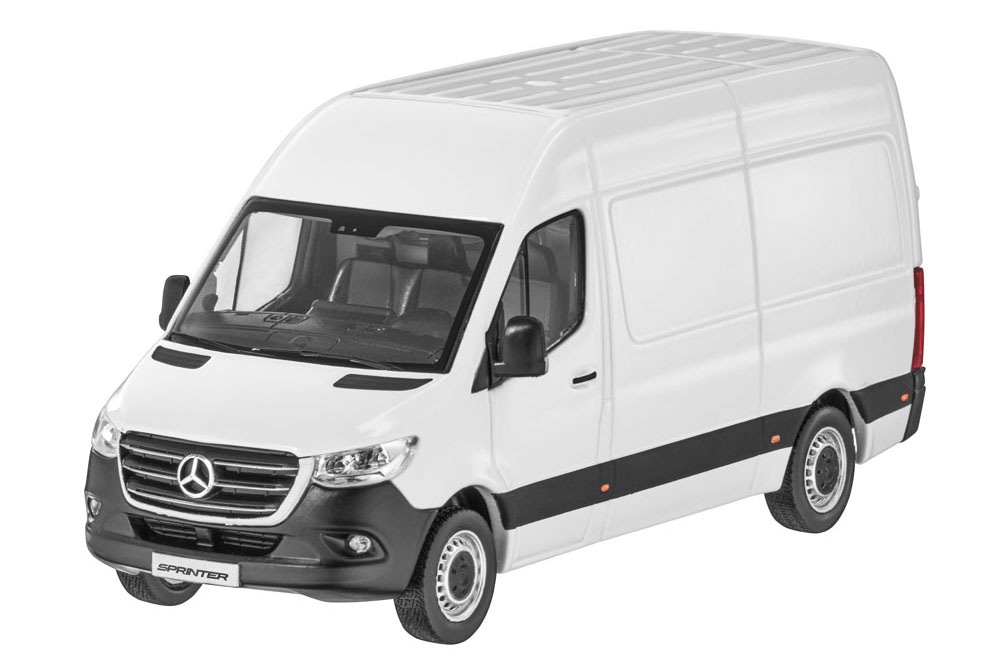 Модель Mercedes Sprinter, Panel Van, Arctic White, Scale 1:43