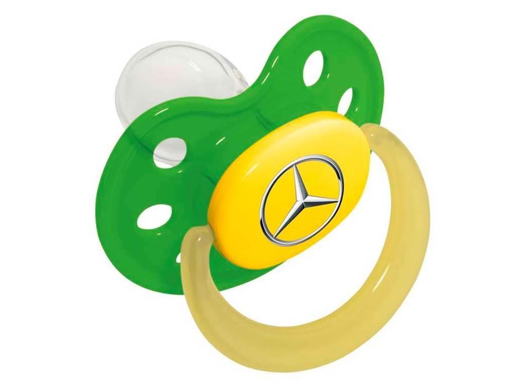 Соска-пустышка Mercedes Soother, Green