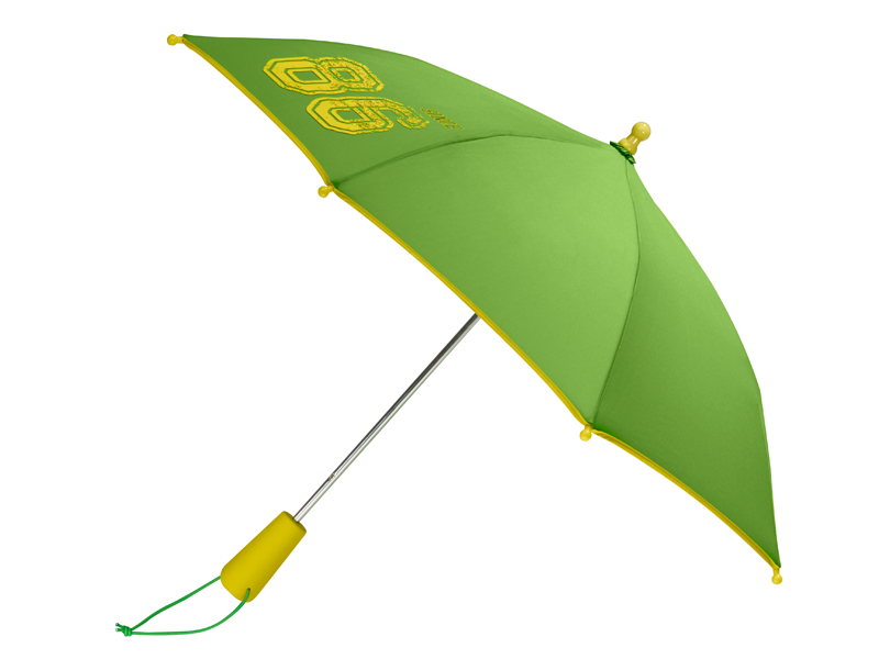 Детский зонт зеленый / желтый