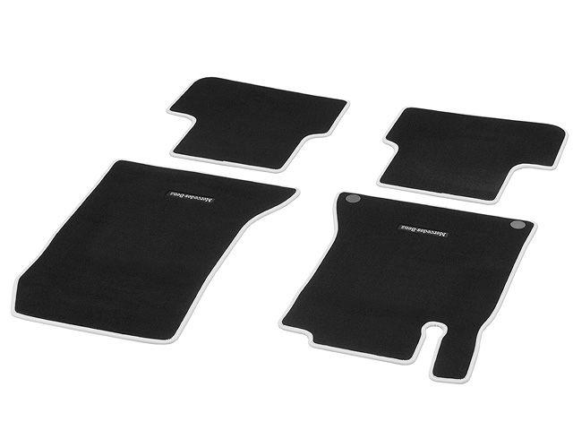 """Велюровые коврики CLASSIC, Комплект, из 4-х частей, черный / """"Серый кристалл"""", Окантовка цвета """"Серый кристалл"""""""