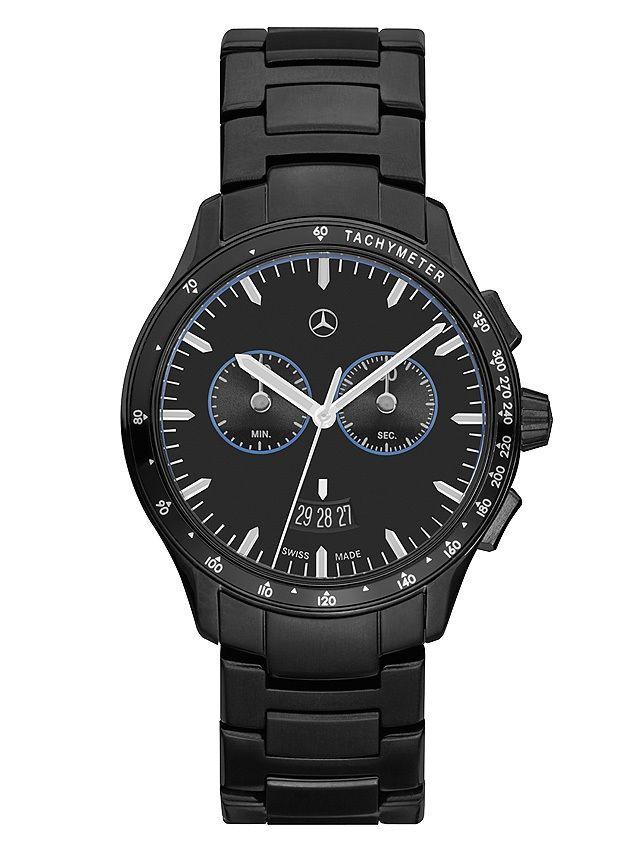 Часы-хронограф мужские, «Мерседес-Бенц», Black Edition