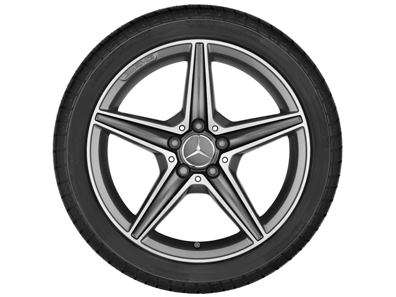 "5-спицевый диск AMG, 45,7 см (18"") 7,5 J x 18 ET 44, ""Серый титан"""