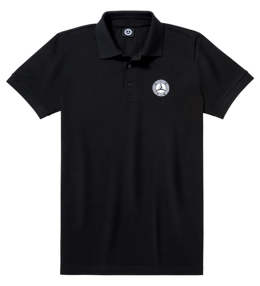 Футболка поло мужская, черная