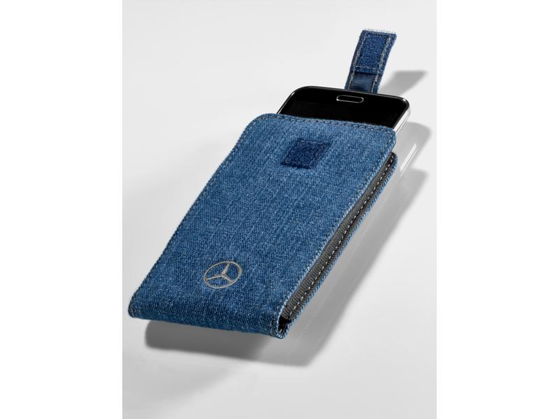 Чехол для смартфона Джинсово-синий цвет, 100% Хлопок