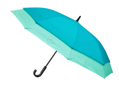 Зонт-трость Mercedes-Benz Conventional Umbrella, Stretch, petrol / mint