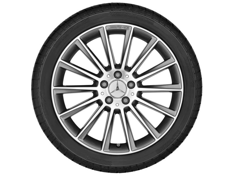 """Многоспицевый колесный диск AMG, 48,3 см (19"""") 7,5 J x 19 ET 44, """"Серый титан"""""""