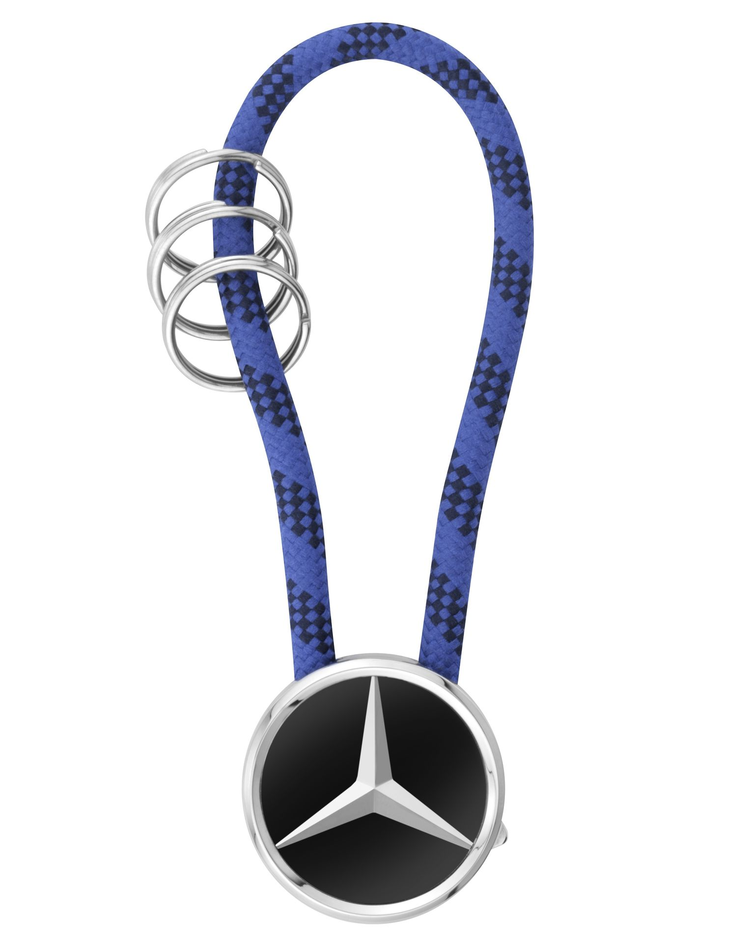 Брелок Mercedes-Benz Key Ring, Mumbai, Black/Silver/Blue