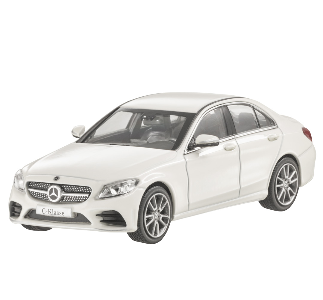 Модель Mercedes C-Class W205 AMG Line, Scale 1:43, Designo Diamond White Bright,