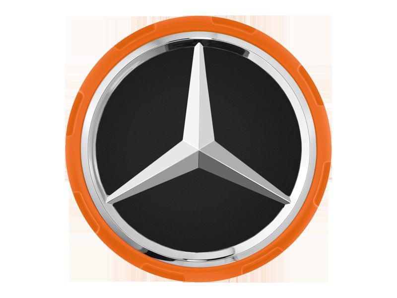Колпачки на ступицы колес AMG, в стиле центральной гайки Оранжевый