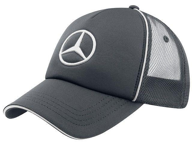 Бейсболка Mercedes-Benz Unisex Cap Trucker Style, Grey, 2016