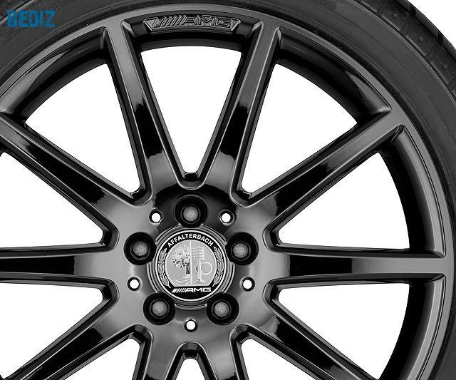 Колпачки на ступицы колес AMG, с гербом AMG Серебристый / черный