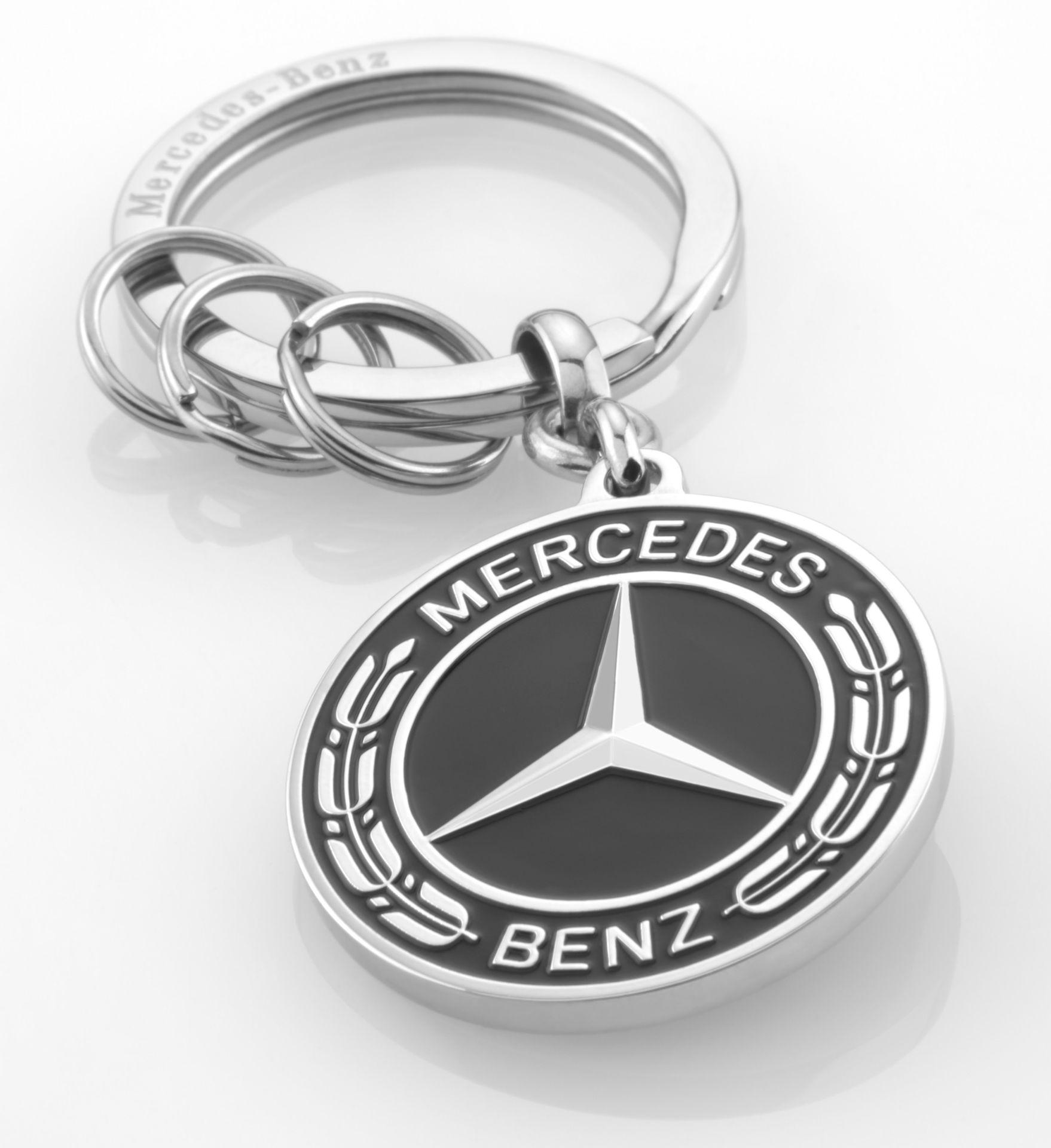 Брелок Mercedes-Benz Key Ring, Black/Silver